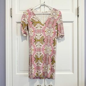 Free People Pink/Cream/Olive Dress size 4